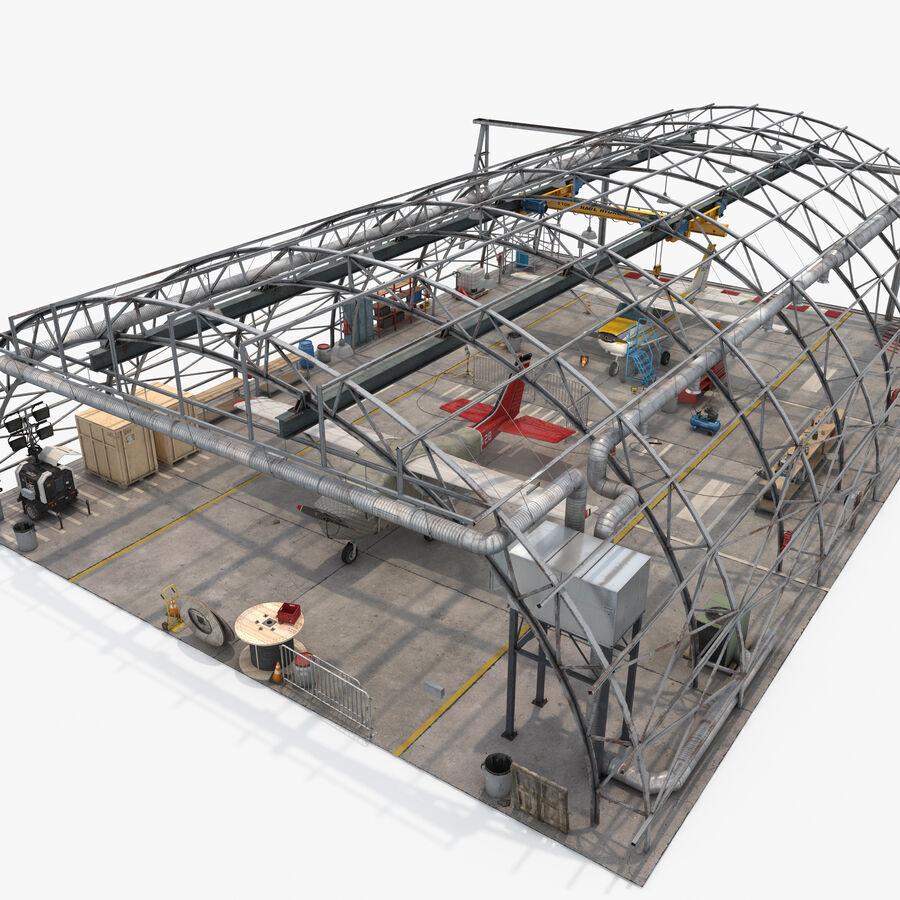 Uçak Hangarı royalty-free 3d model - Preview no. 18