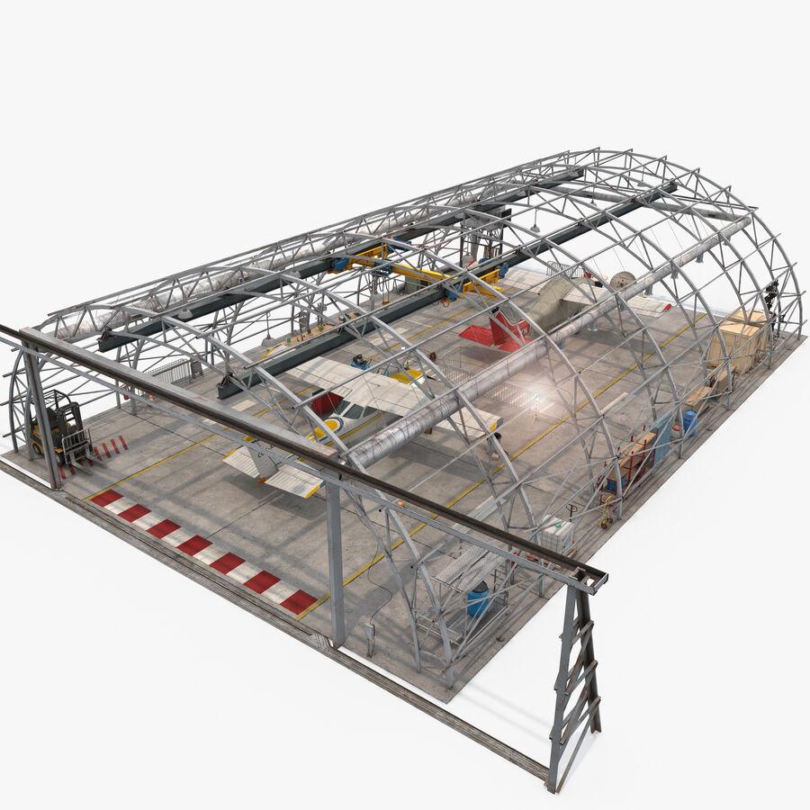 Uçak Hangarı royalty-free 3d model - Preview no. 16