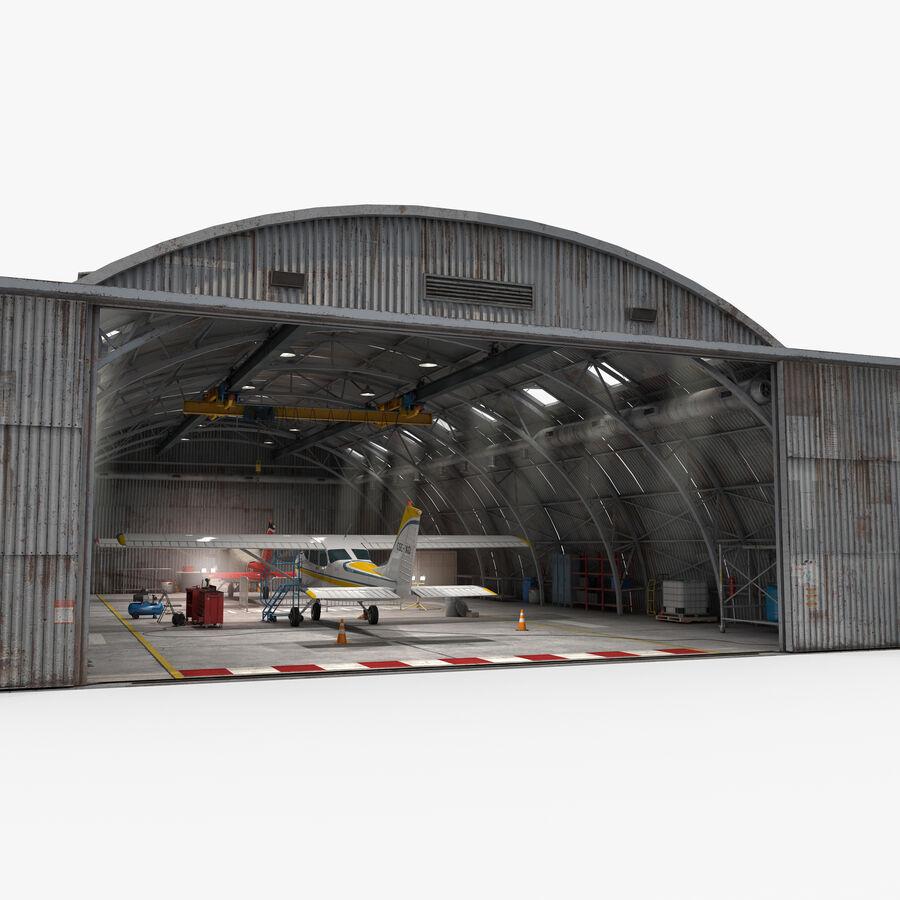 Uçak Hangarı royalty-free 3d model - Preview no. 12