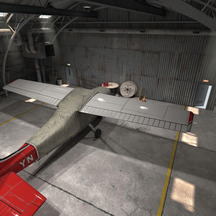 Uçak Hangarı royalty-free 3d model - Preview no. 10