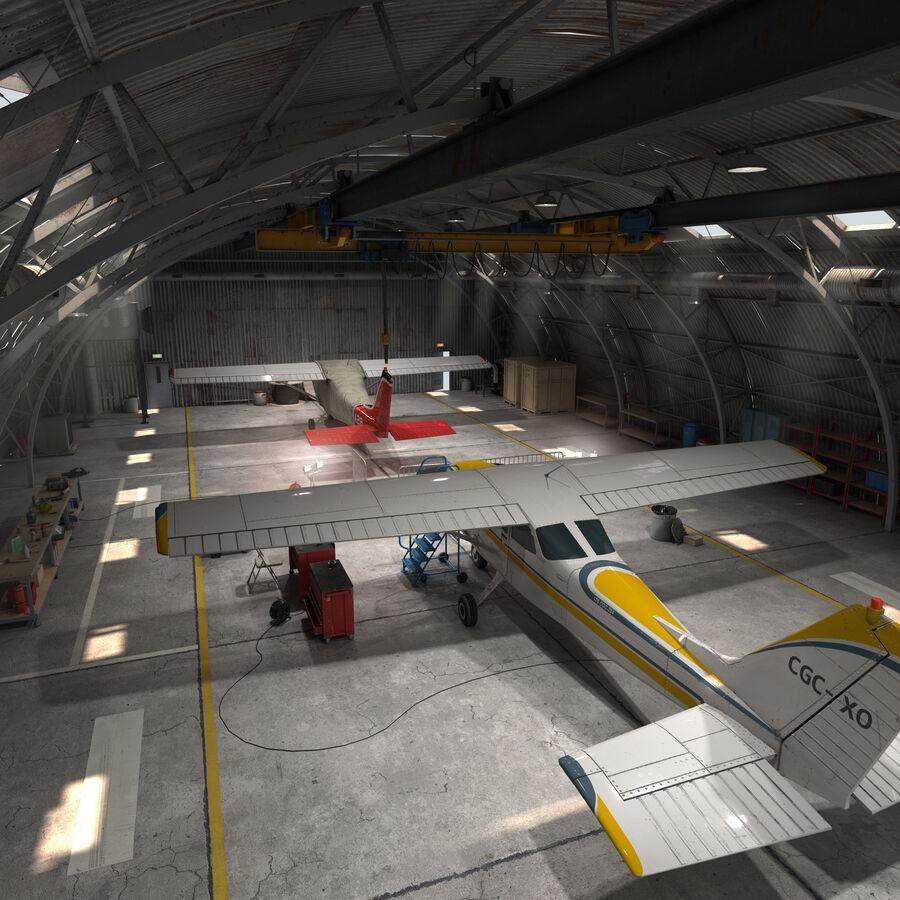 Uçak Hangarı royalty-free 3d model - Preview no. 4
