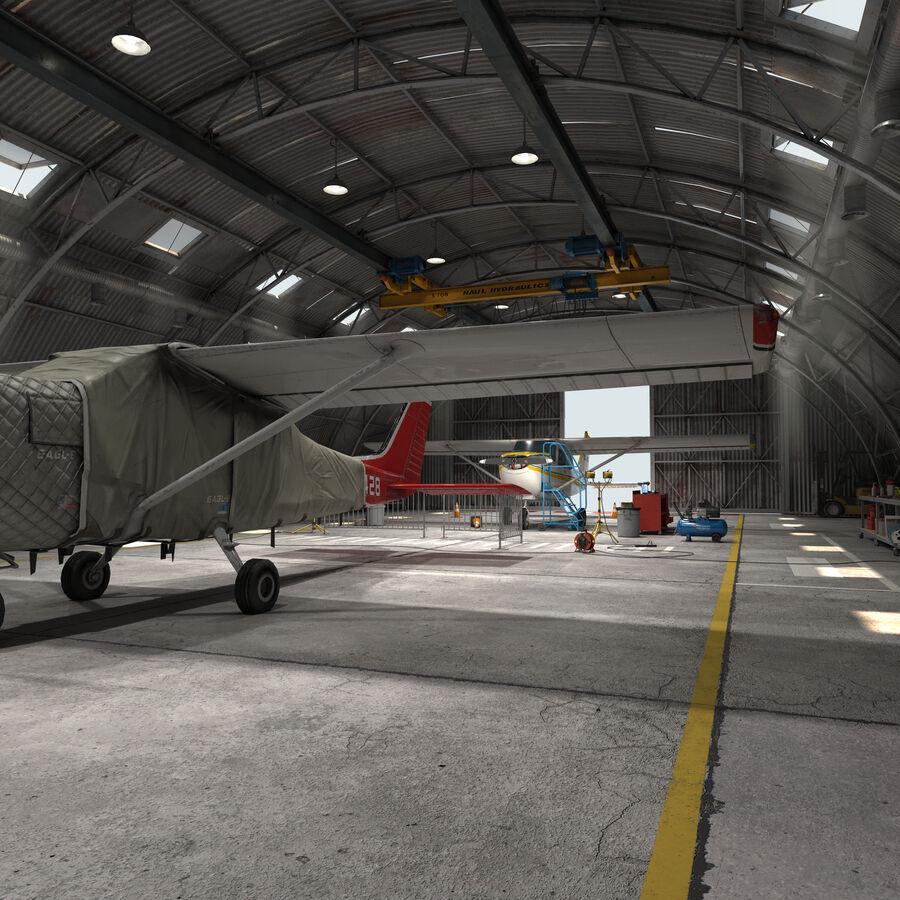 Uçak Hangarı royalty-free 3d model - Preview no. 7