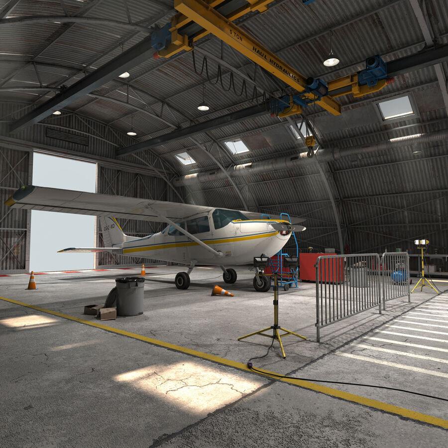 Uçak Hangarı royalty-free 3d model - Preview no. 2