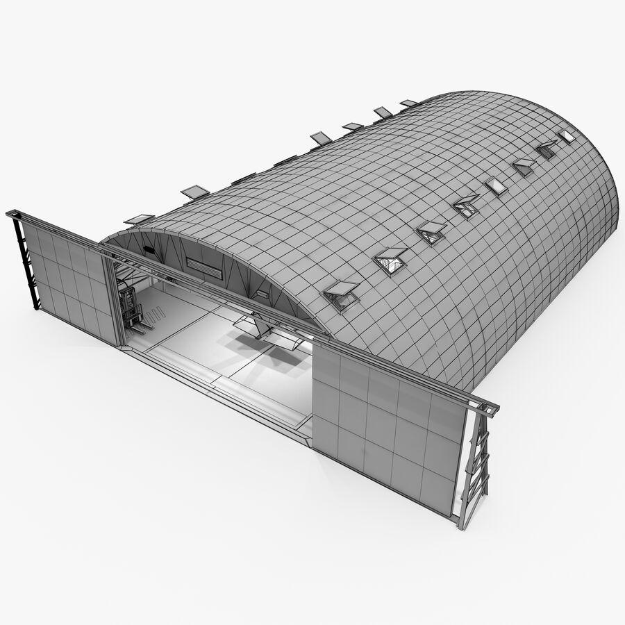 飞机机库 royalty-free 3d model - Preview no. 14