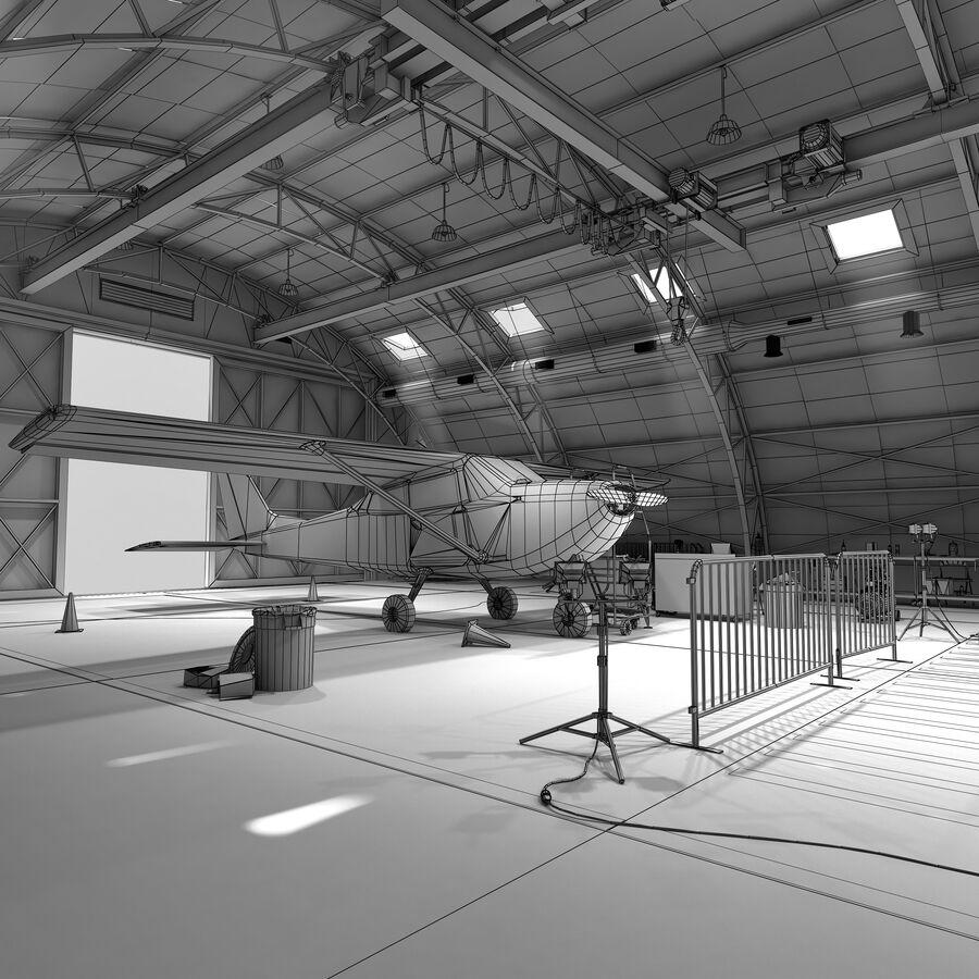 Uçak Hangarı royalty-free 3d model - Preview no. 3