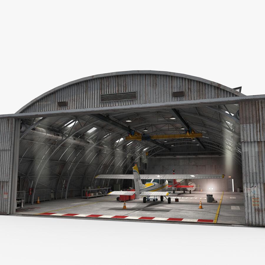 Uçak Hangarı royalty-free 3d model - Preview no. 11