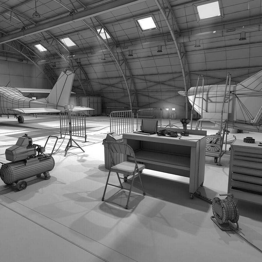 Uçak Hangarı royalty-free 3d model - Preview no. 9