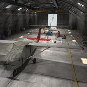 飛行機格納庫 3d model