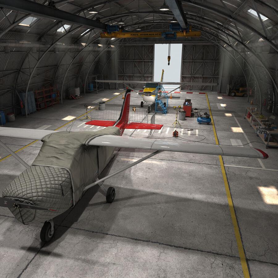 Uçak Hangarı royalty-free 3d model - Preview no. 1