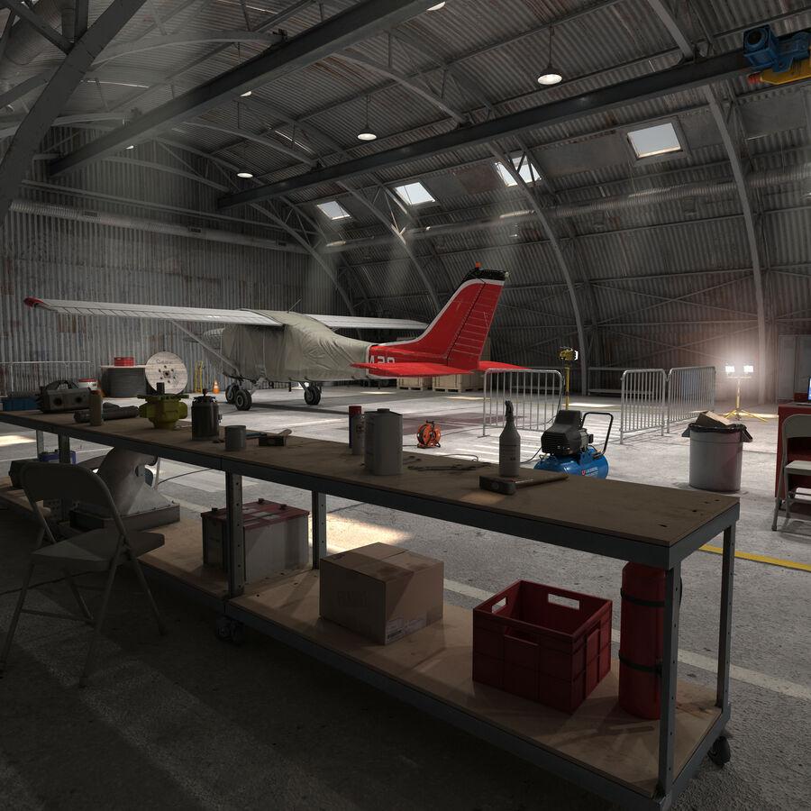 Uçak Hangarı royalty-free 3d model - Preview no. 5
