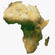 Africa continente fotorealistico 30K 3d model