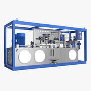 Unidad de poder hidráulico modelo 3d