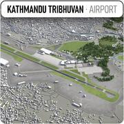 トリブバン国際空港 3d model