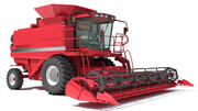 Röd skördetröska 3d model