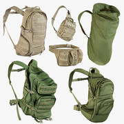 Backpacks Collection 3d model