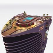 Hotel - Dach - Wewnątrz 3d model