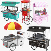 Full Food Carts Collection 3d model