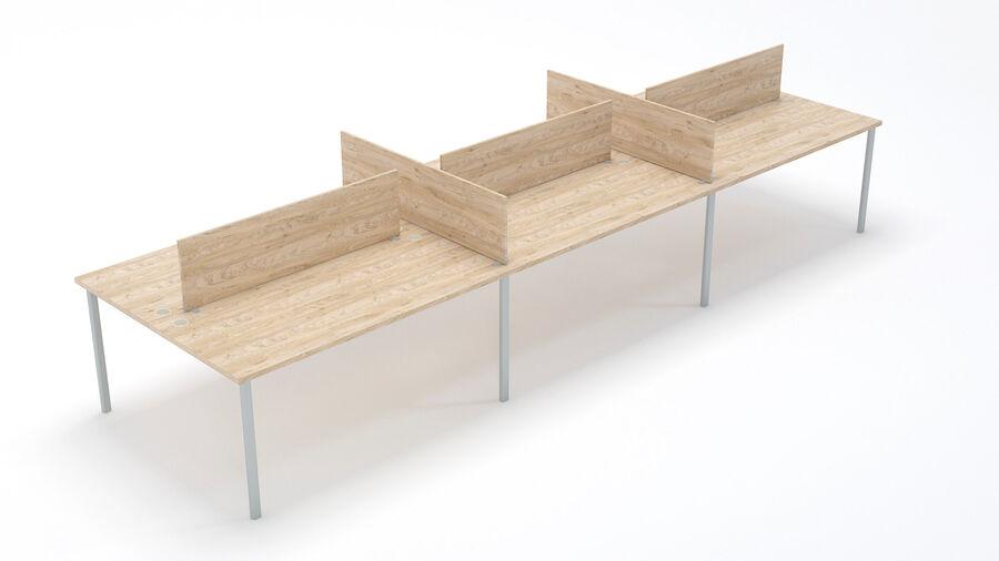 Büro-Schreibtisch-Set royalty-free 3d model - Preview no. 5