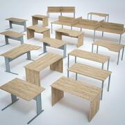 Büro-Schreibtisch-Set 3d model
