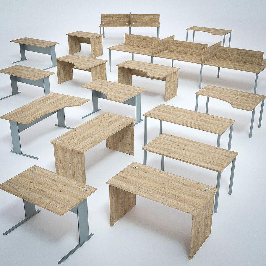 Büro-Schreibtisch-Set royalty-free 3d model - Preview no. 1