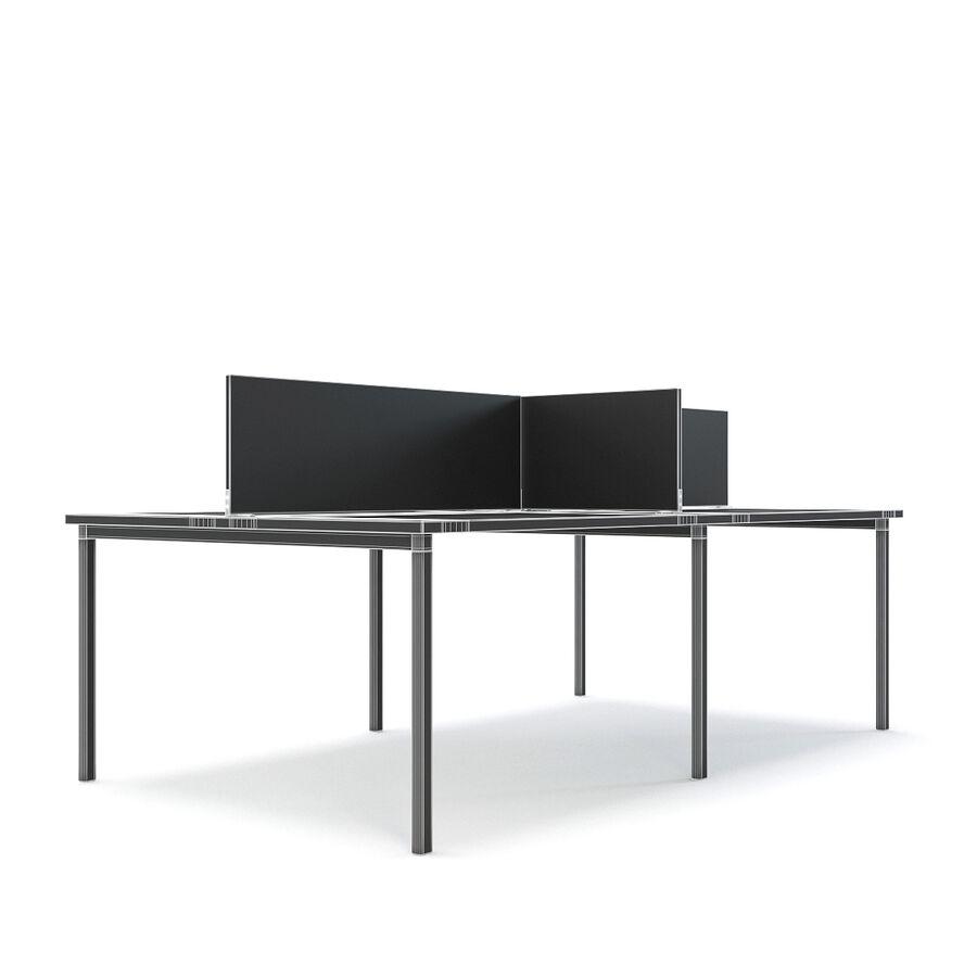 Büro-Schreibtisch-Set royalty-free 3d model - Preview no. 9