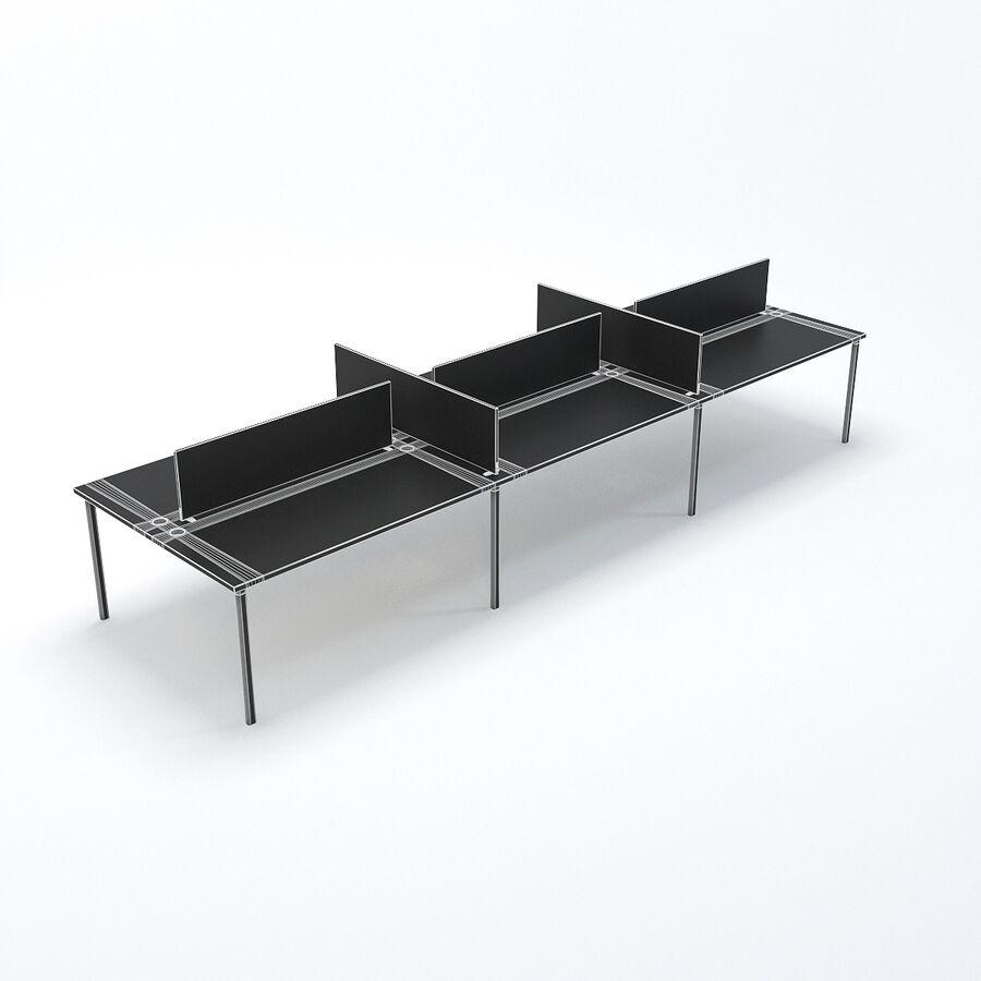 Büro-Schreibtisch-Set royalty-free 3d model - Preview no. 4
