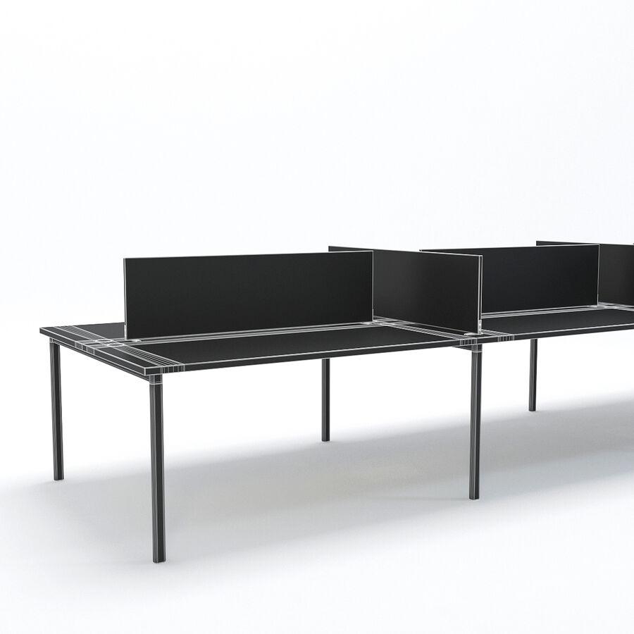 Büro-Schreibtisch-Set royalty-free 3d model - Preview no. 3