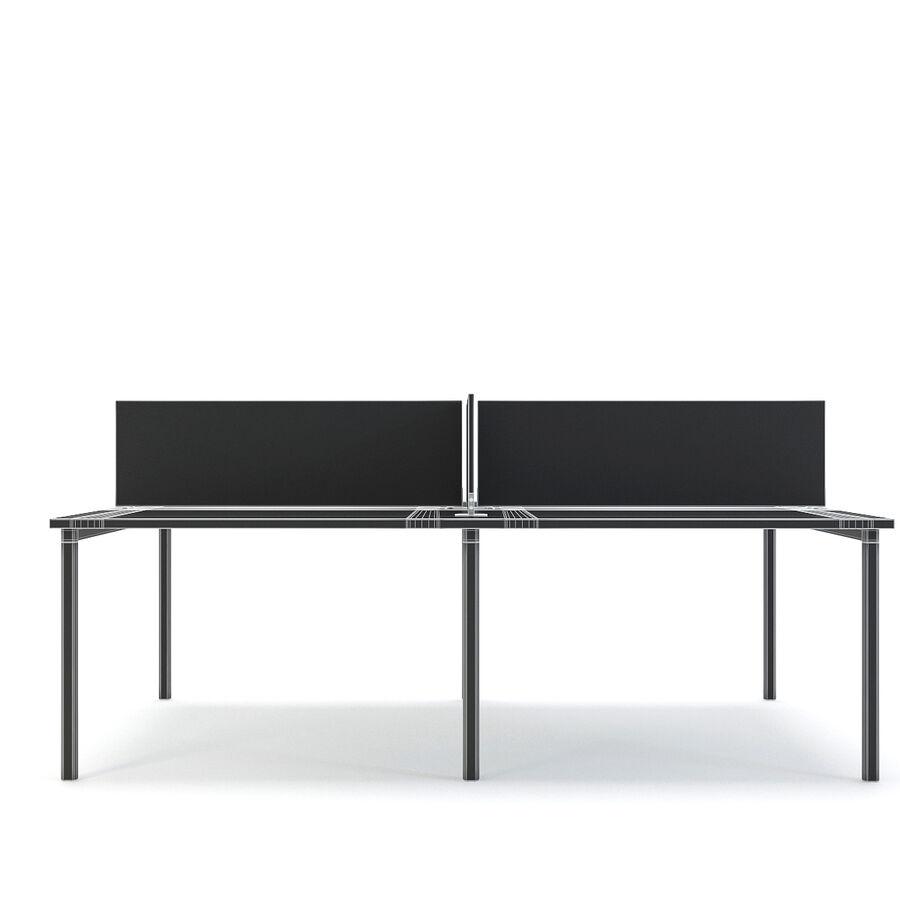 Büro-Schreibtisch-Set royalty-free 3d model - Preview no. 8