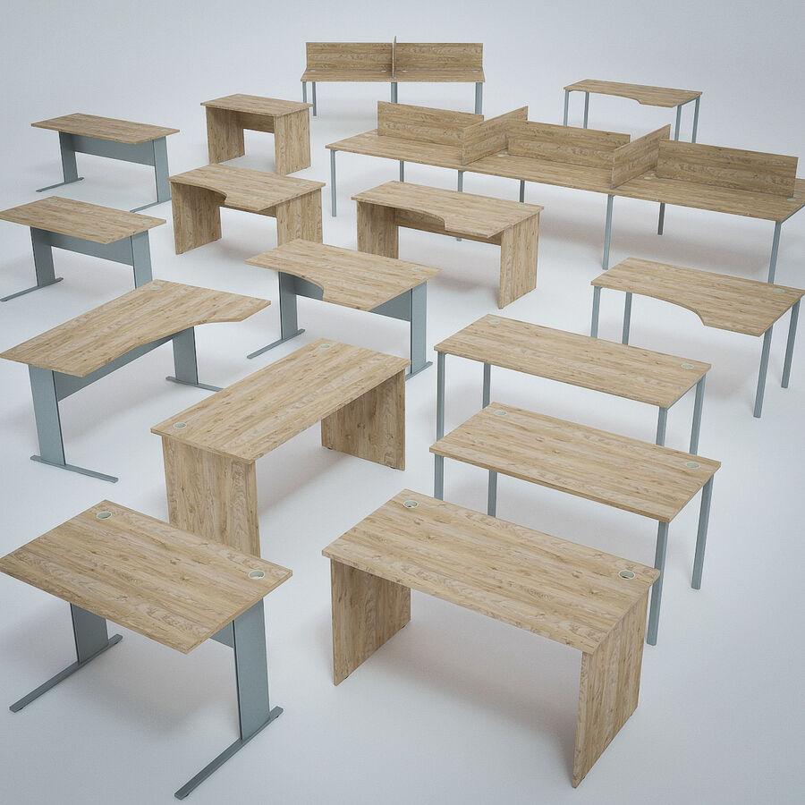 Büro-Schreibtisch-Set royalty-free 3d model - Preview no. 2