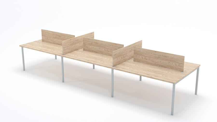 Büro-Schreibtisch-Set royalty-free 3d model - Preview no. 6