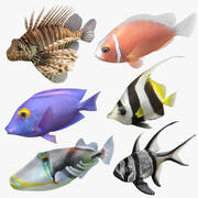 Tuzlu Su Balıkları Arma Koleksiyonu 2 3d model