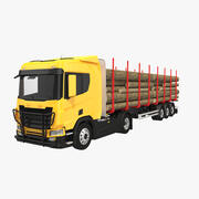 木材トラック 3d model