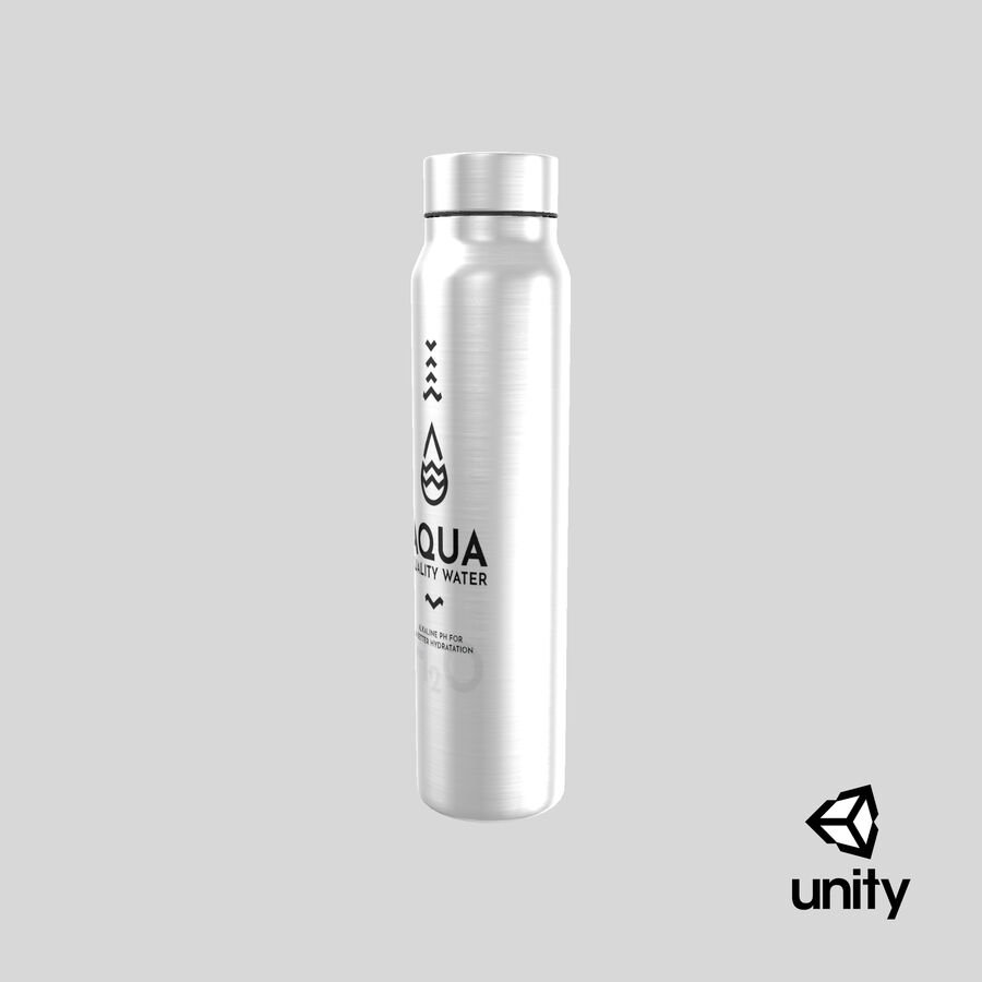 Aluminium Water Bottle royalty-free 3d model - Preview no. 23