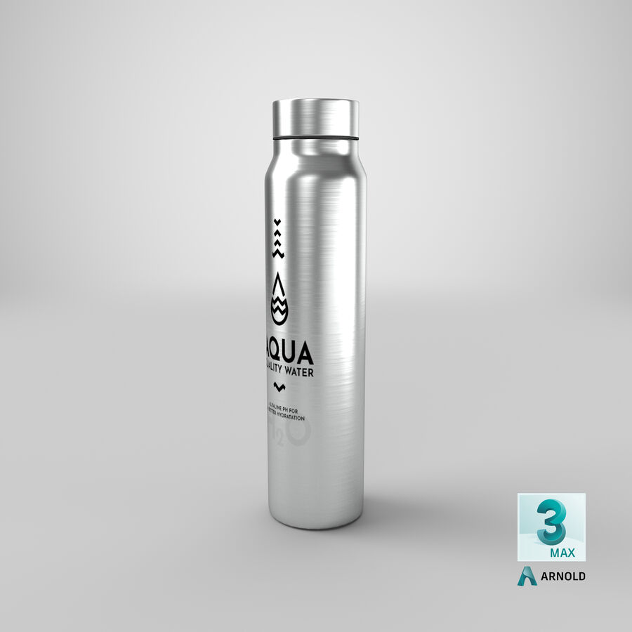 Aluminium Water Bottle royalty-free 3d model - Preview no. 25