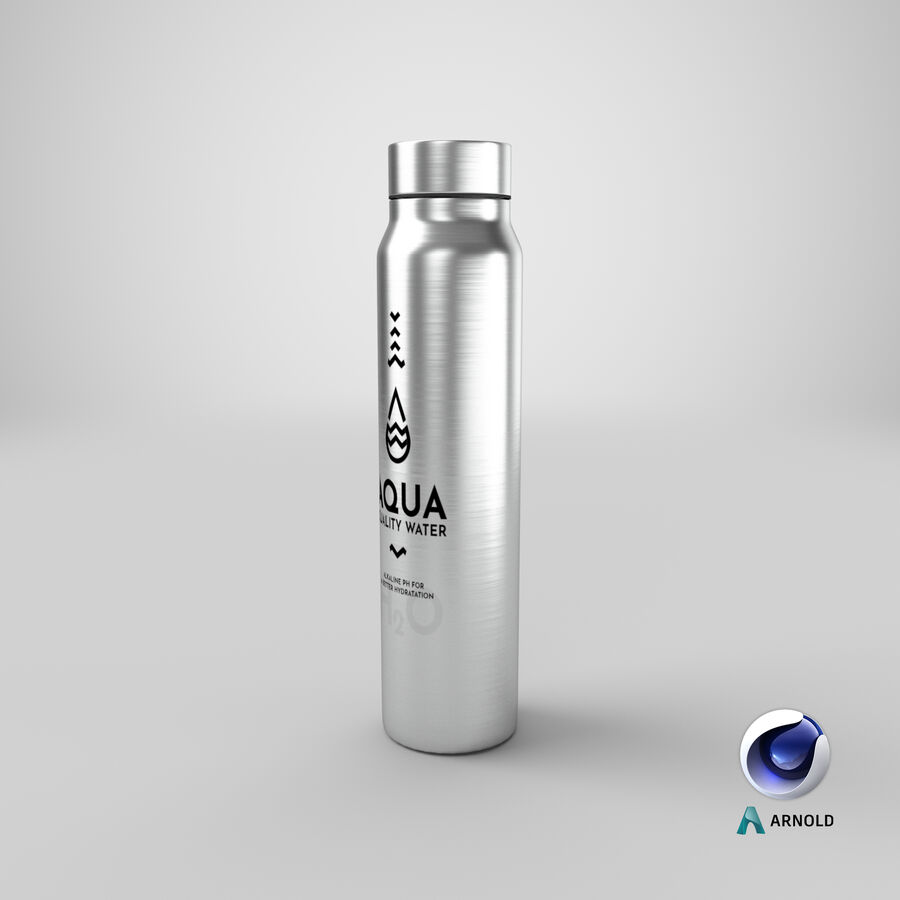 Aluminium Water Bottle royalty-free 3d model - Preview no. 22