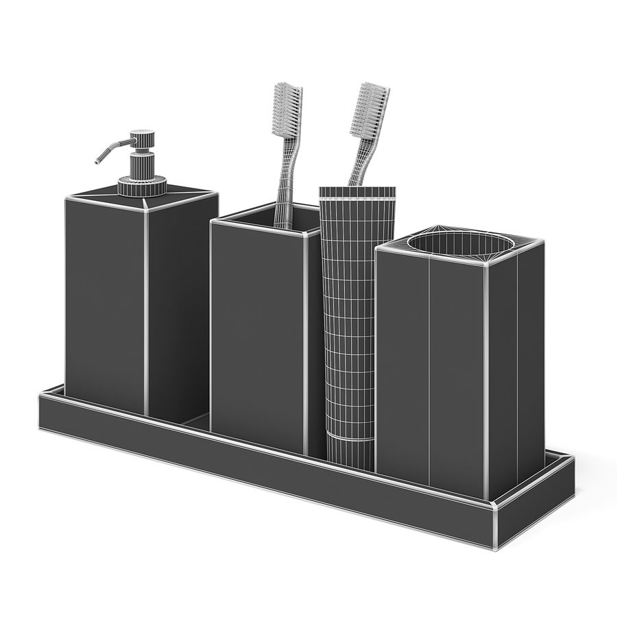 Bathroom Accessories royalty-free 3d model - Preview no. 2