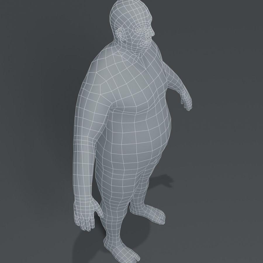 Male Body Fat Base Mesh 3D Model royalty-free 3d model - Preview no. 17