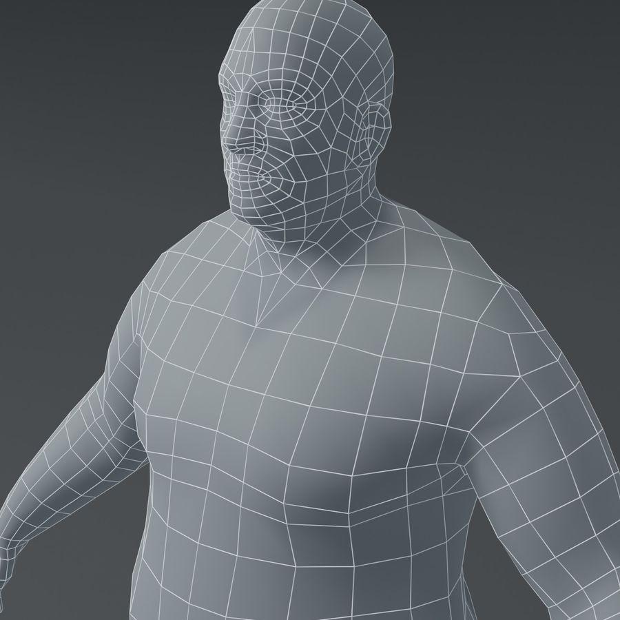Male Body Fat Base Mesh 3D Model royalty-free 3d model - Preview no. 18