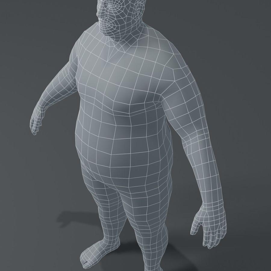 Male Body Fat Base Mesh 3D Model royalty-free 3d model - Preview no. 7