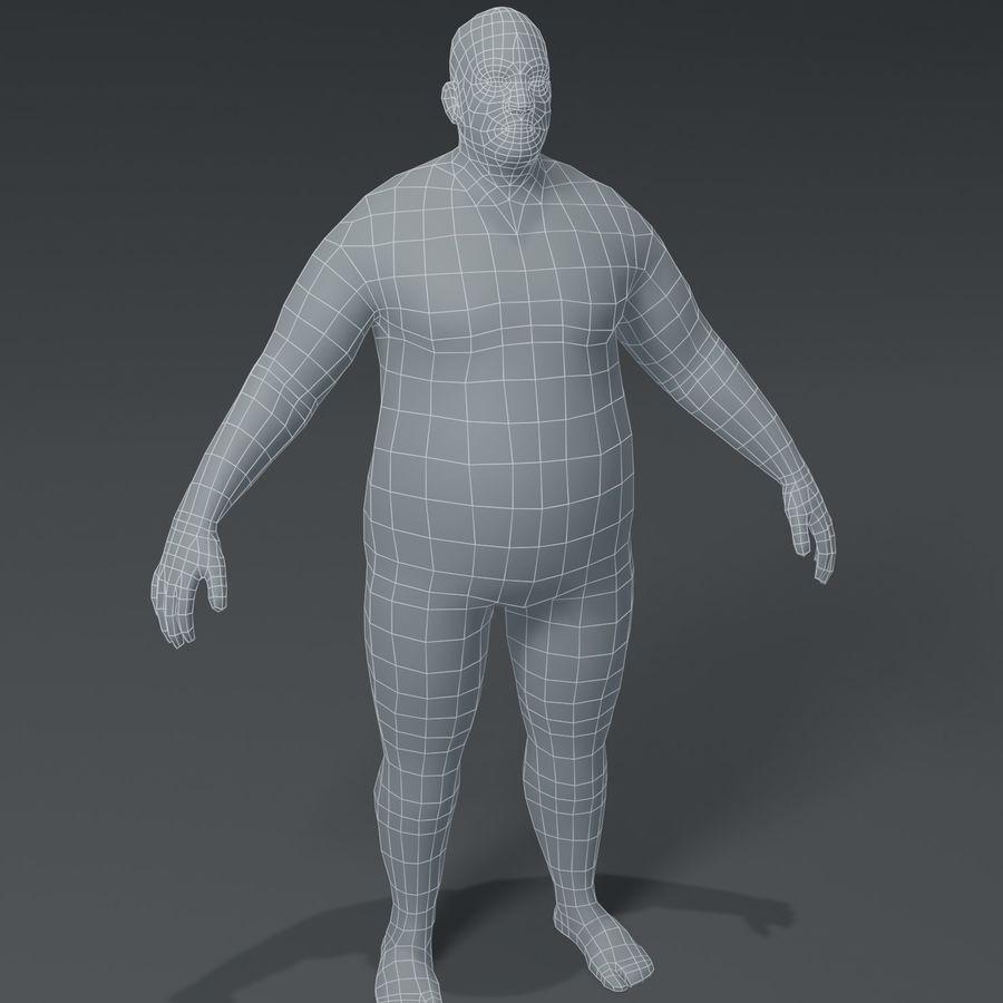 Male Body Fat Base Mesh 3D Model royalty-free 3d model - Preview no. 1