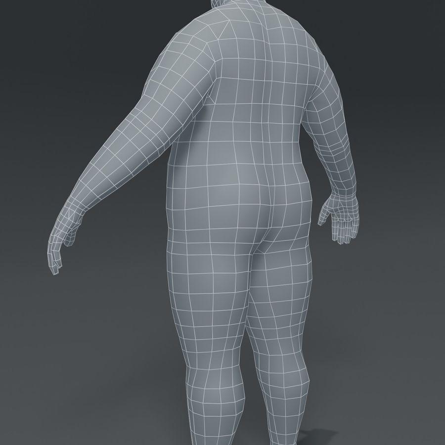 Male Body Fat Base Mesh 3D Model royalty-free 3d model - Preview no. 15