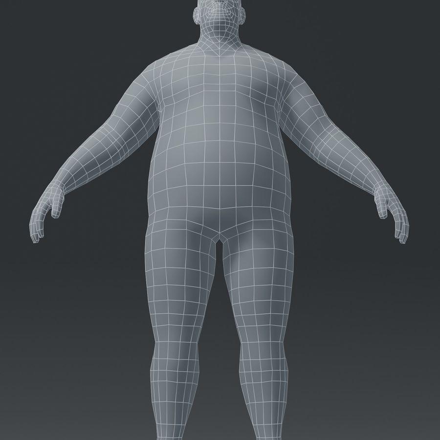 Male Body Fat Base Mesh 3D Model royalty-free 3d model - Preview no. 5