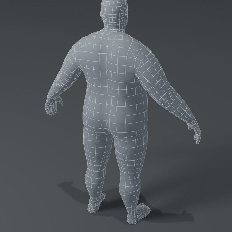 Male Body Fat Base Mesh 3D Model royalty-free 3d model - Preview no. 14