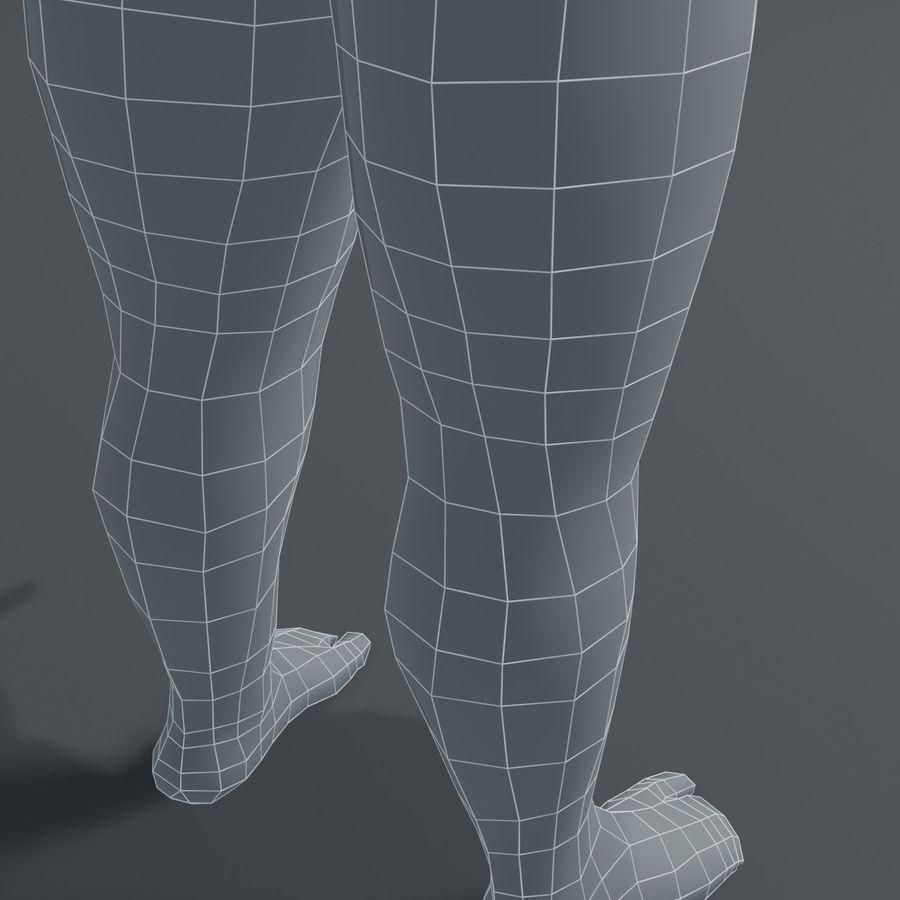 Male Body Fat Base Mesh 3D Model royalty-free 3d model - Preview no. 9