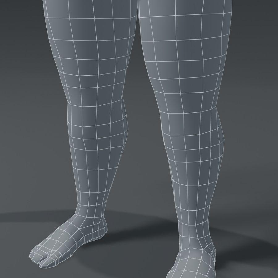 Male Body Fat Base Mesh 3D Model royalty-free 3d model - Preview no. 8