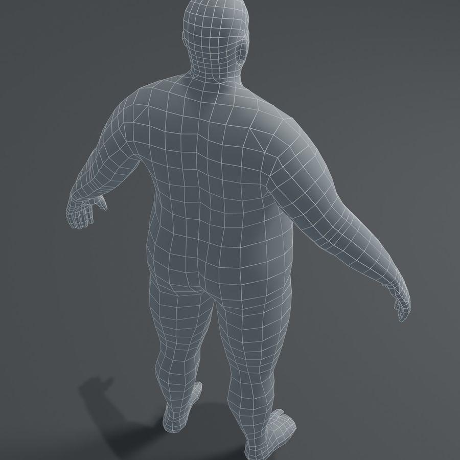Male Body Fat Base Mesh 3D Model royalty-free 3d model - Preview no. 4