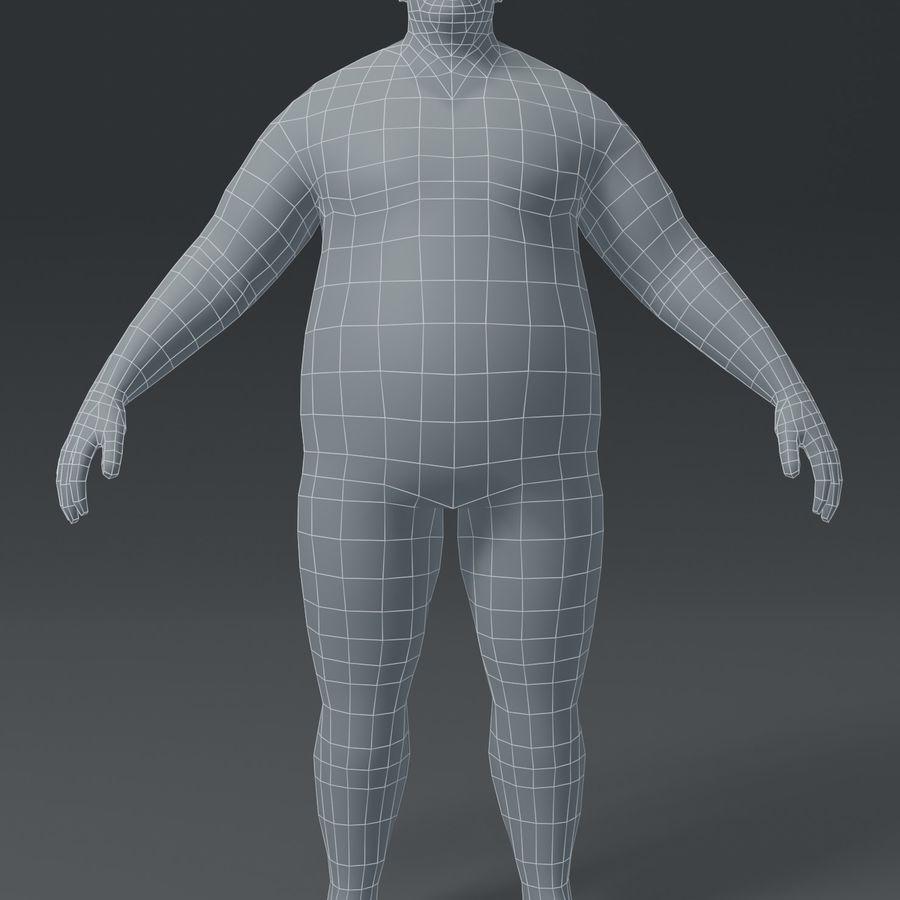 Male Body Fat Base Mesh 3D Model royalty-free 3d model - Preview no. 11