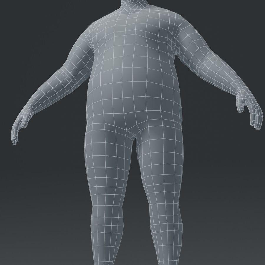 Male Body Fat Base Mesh 3D Model royalty-free 3d model - Preview no. 16