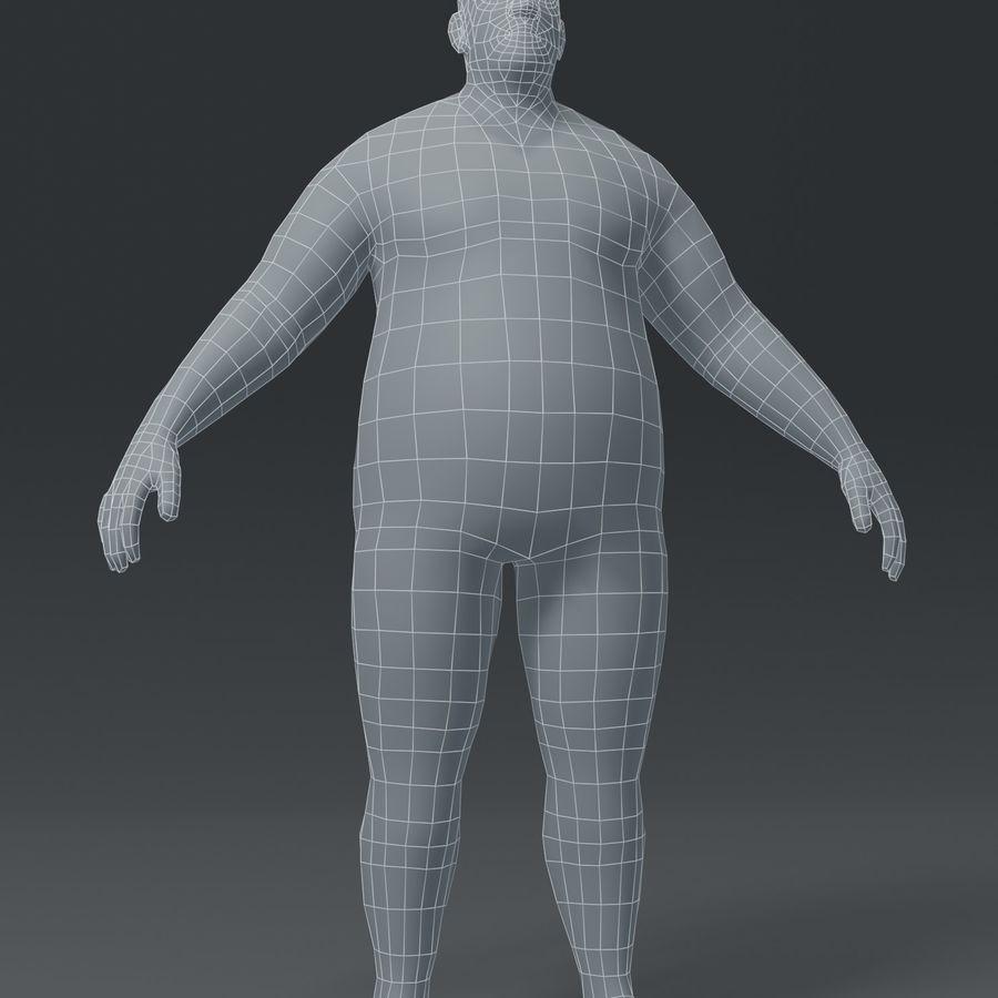 Male Body Fat Base Mesh 3D Model royalty-free 3d model - Preview no. 19