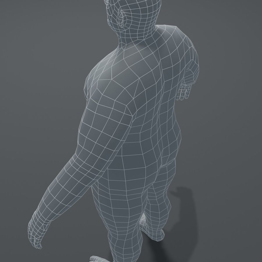 Male Body Fat Base Mesh 3D Model royalty-free 3d model - Preview no. 3